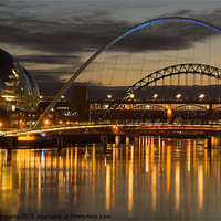 Buy canvas prints of Dusk over the Tyne 2 by Martin Williams