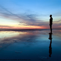 Buy canvas prints of Another Place, Crosby Beach by Martin Williams