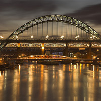 Buy canvas prints of Dusk over the Tyne by Martin Williams
