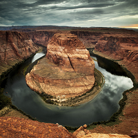 Buy canvas prints of Horseshoe Bend, Arizona by Martin Williams