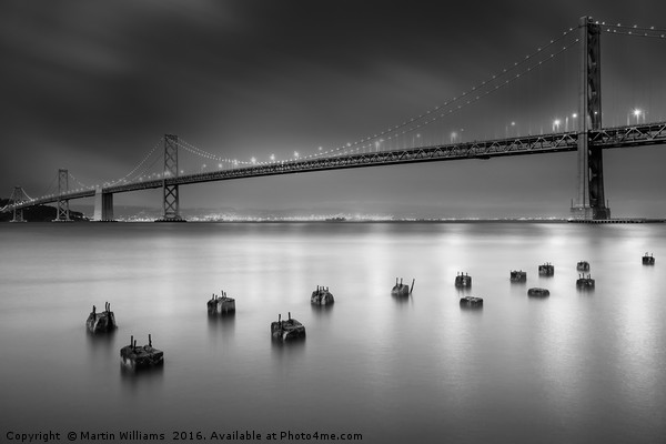 The Bay Bridge, San Francisco Canvas print by Martin Williams