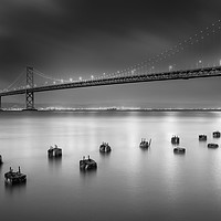 Buy canvas prints of The Bay Bridge, San Francisco by Martin Williams