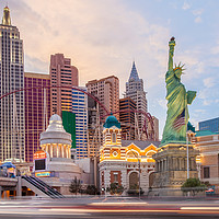 Buy canvas prints of New York New York Hotel and Casino, Las Vegas by Martin Williams