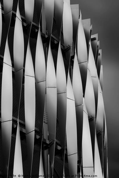 Abstract of Victoria Gate Shopping Centre Car Park Canvas print by Martin Williams