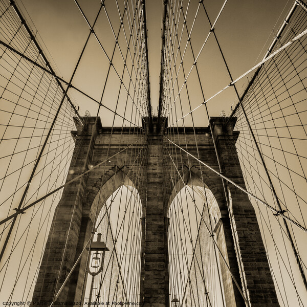 Brooklyn Bridge Framed Mounted Print by Martin Williams