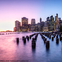 Buy canvas prints of Sunset over New York by Martin Williams
