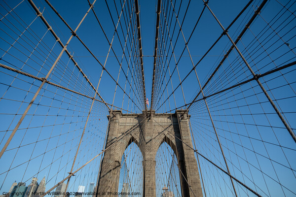 Brooklyn Bridge Framed Mounted Print by Martin Williams