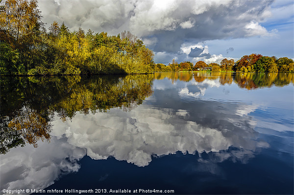 Willow Pits, Cloudy Reflections Canvas print by mhfore Photography