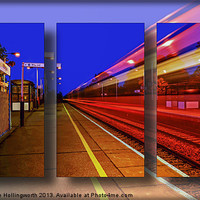 Buy canvas prints of Train Triptych by mhfore Photography