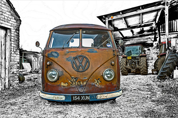 Vintage Splitty Canvas print by mhfore Photography