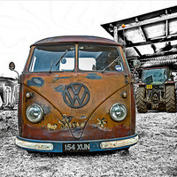 Buy canvas prints of Vintage Splitty by mhfore Photography