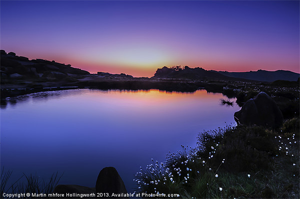 Twilight at Doxey Pool Canvas print by mhfore Photography