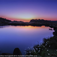 Buy canvas prints of Twilight at Doxey Pool by mhfore Photography
