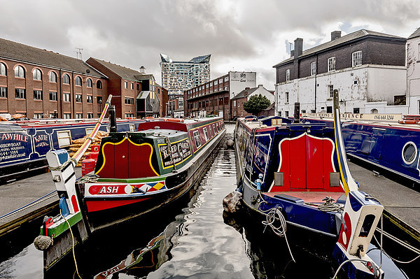 Birmingham Narrow Boats Canvas print by mhfore Photography