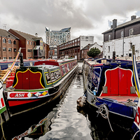 Buy canvas prints of Birmingham Narrow Boats by mhfore Photography
