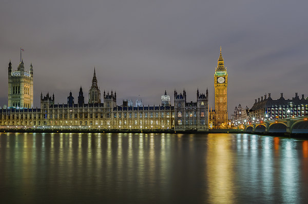 Westminster Evening Canvas print by mhfore Photography
