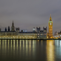 Buy canvas prints of Westminster Evening by mhfore Photography