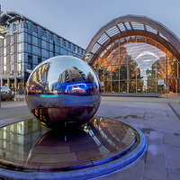 Buy canvas prints of Sheffield Globes by mhfore Photography