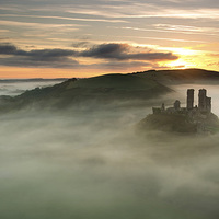 Buy canvas prints of Castle in the Clouds by Andrew Bannister