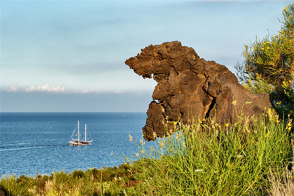 Italy_Sicily_Islands_Eolie_Vulcano_Valley_Of_Monst Print by Donatella Piccone