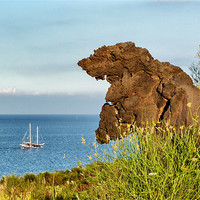 Buy canvas prints of Italy_Sicily_Islands_Eolie_Vulcano_Valley_Of_Monst by Donatella Piccone
