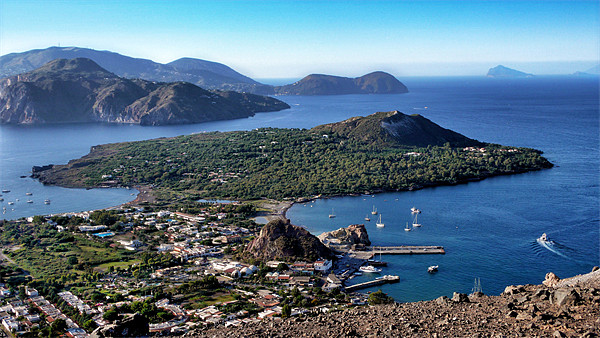 Italy_Sicily_Islands_Eolie_Vulcano Print by Donatella Piccone