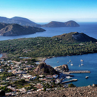 Buy canvas prints of Italy_Sicily_Islands_Eolie_Vulcano by Donatella Piccone