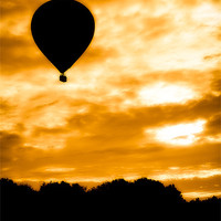 Buy canvas prints of Balloon Rise by Mark Llewellyn