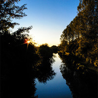 Buy canvas prints of Kennet and Avon Canal Sunset by Mark Llewellyn