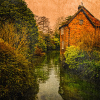 Buy canvas prints of River Kennet by Mark Llewellyn