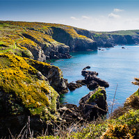 Buy canvas prints of St Nons Bay Pembrokeshire by Mark Llewellyn