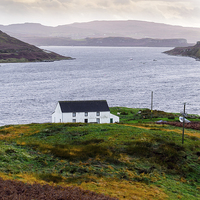 Buy canvas prints of Isle of Skye Cottage by Mark Llewellyn