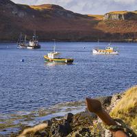 Buy canvas prints of Skye Fishing Boats by Mark Llewellyn