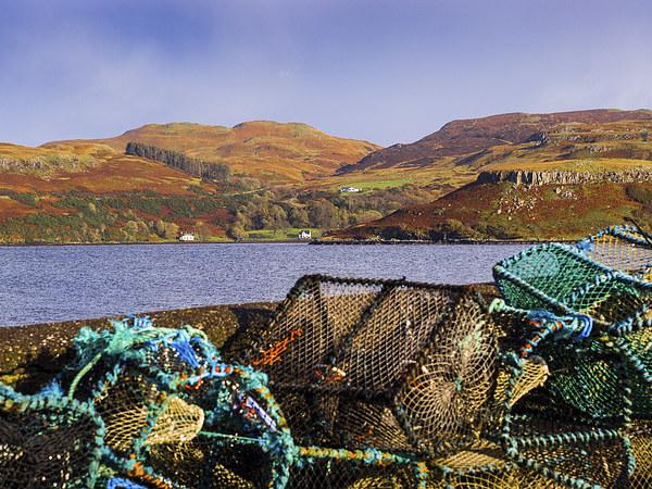 Skye Fishing Pots Canvas print by Mark Llewellyn