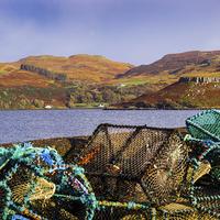 Buy canvas prints of Skye Fishing Pots by Mark Llewellyn