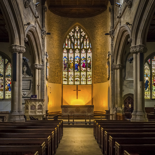 St Lawrence Church Hungerford Canvas Print by Mark Llewellyn