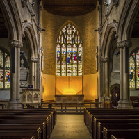 Buy canvas prints of St Lawrence Church Hungerford by Mark Llewellyn