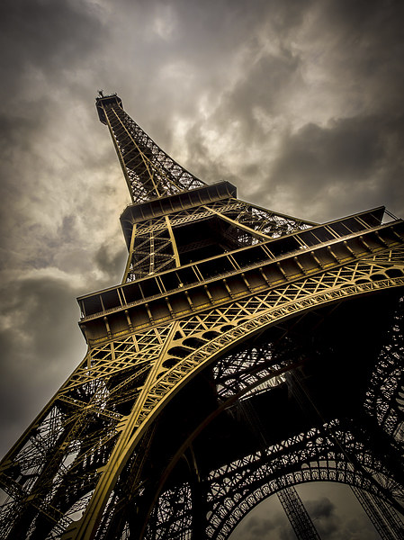 Eiffel Tower Canvas Print by Mark Llewellyn