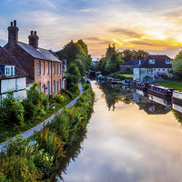 Buy canvas prints of Hungerford Canal Sunset by Mark Llewellyn