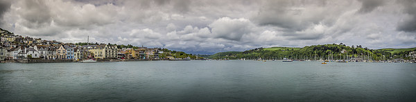 River Dart Panorama Canvas Print by Mark Llewellyn