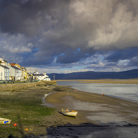 Buy canvas prints of Aberdovey Seafront by Mark Llewellyn