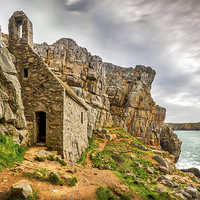 Buy canvas prints of St Govans Chapel by Mark Llewellyn