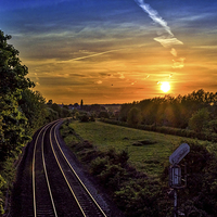 Buy canvas prints of Railway at Hungerford, Berkshire, England, UK by Mark Llewellyn