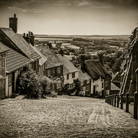 Buy canvas prints of Gold Hill Shaftesbury by Mark Llewellyn