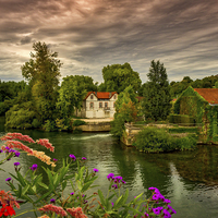 Buy canvas prints of River Charente by Mark Llewellyn