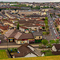 Buy canvas prints of Bogside View, Derry, Northern Ireland by Mark Llewellyn