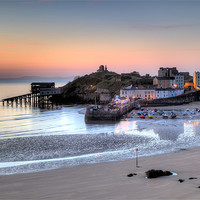 Buy canvas prints of Tenby Harbour by Simon West