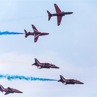 Buy canvas prints of Red Arrows Display by Simon West