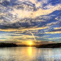 Buy canvas prints of Lake Sunset by Simon West