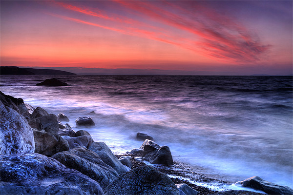 Wisemans Bridge Beach Before Sunrise Canvas print by Simon West